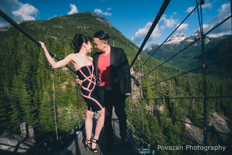 Amazing scenic engagement location Sea to Sky Gondola