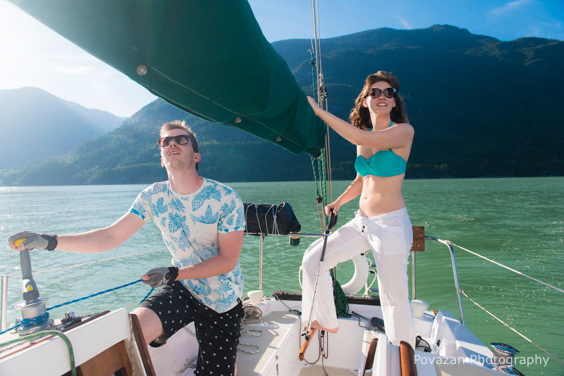 Squamish sailing engagement