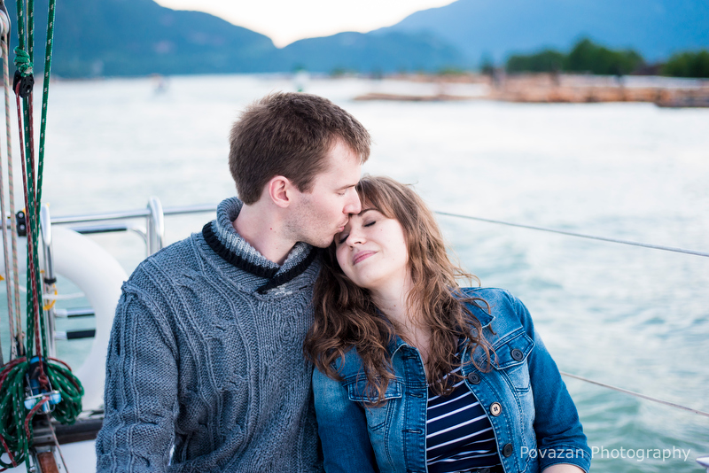Squamish engagement yacht photography