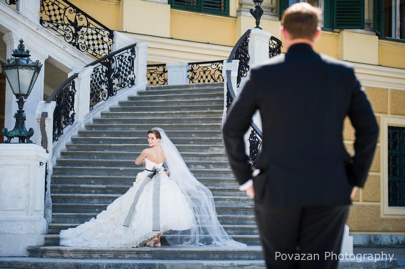 Schoenbrun palace Vienna wedding formals