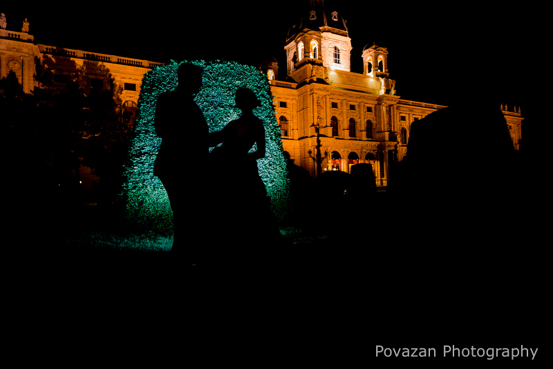 Dusk Vienna wedding portrait session