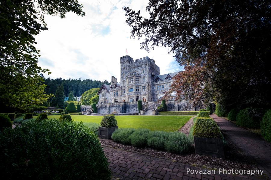 Hatley Castle engagement Vancouver Island