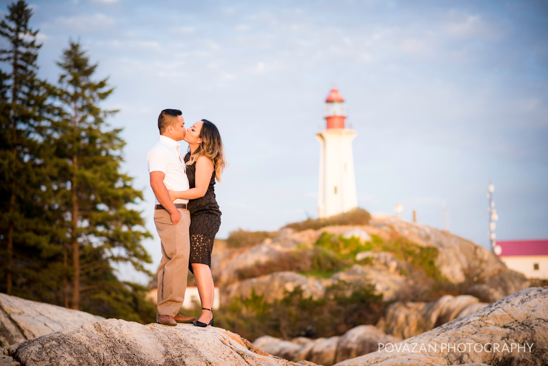 West Vancouver best engagement sunset location