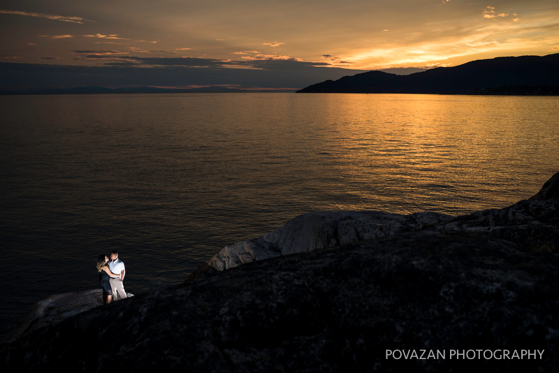 Vancouver lighthouse park sunset creative pictures by Povazan Photography