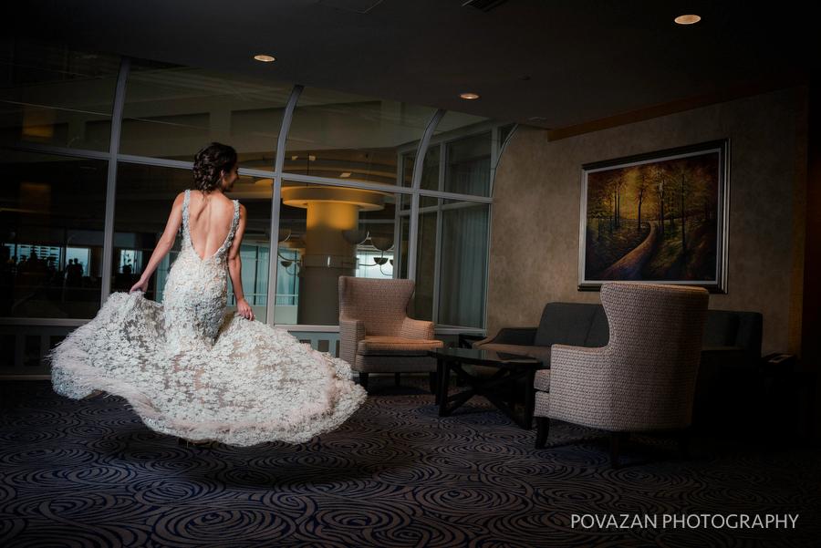 bride in amazing evening wedding dress