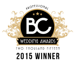 BC Wedding Award Best wedding photographer Vancouver 2015