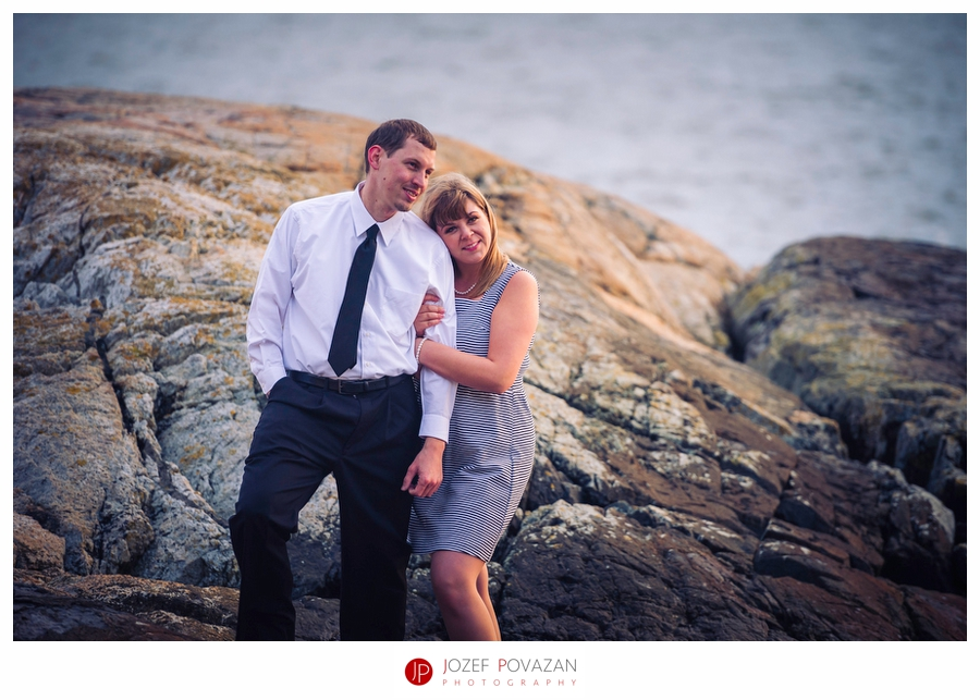 Sunset Lighthouse park engagement