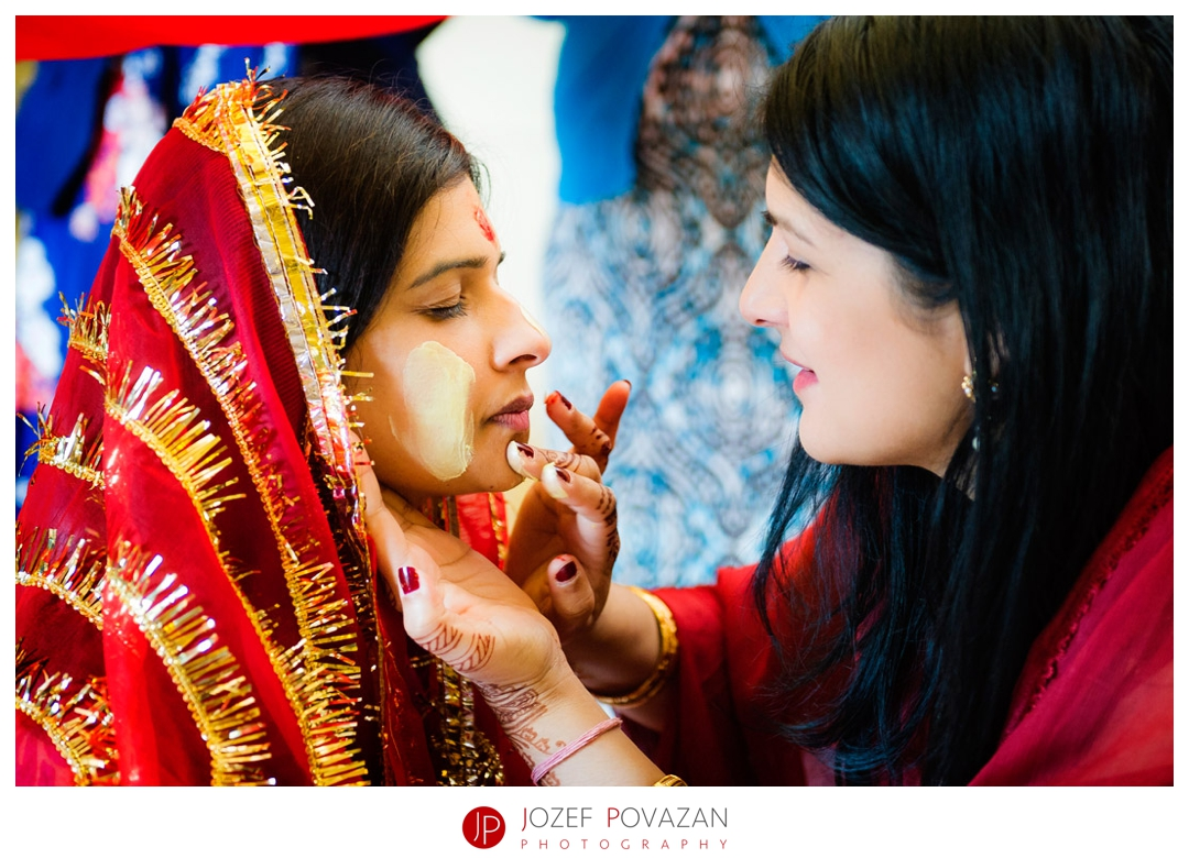 kelowna wedding photographer Delta hotel ceremony Indian pithi ceremony